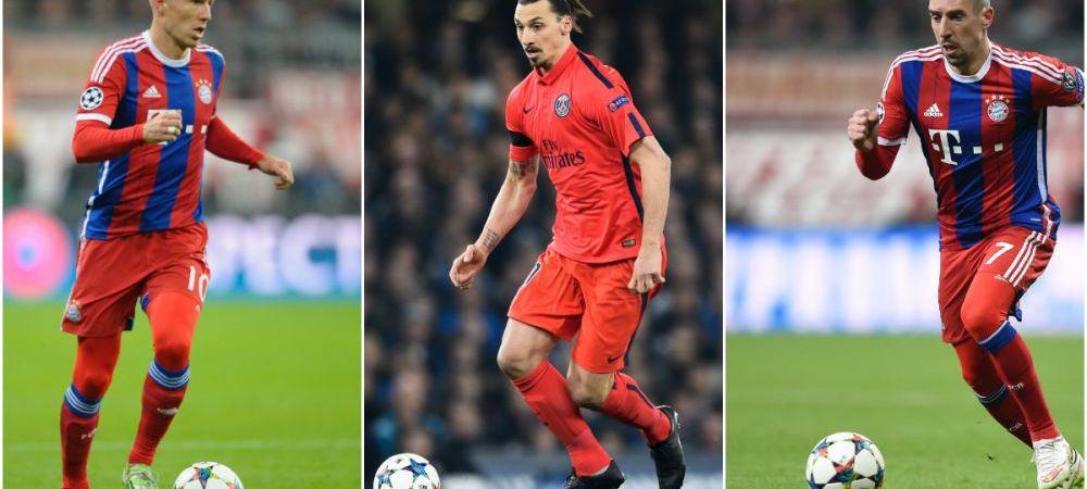 Ibra, Pogba, Pirlo, Robben si Ribery! Lista absentilor din Liga insumeaza sute de milioane, Bayern, PSG si Juve au probleme inaintea sferturilor