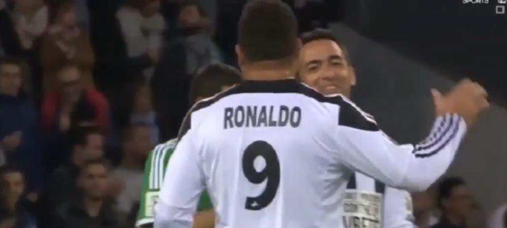 Ronaldo si Zidane au facut o faza DE MILIOANE! Calcai, scarita si un super sut! Cei doi au reamintit fanilor cum arata fotbalul frumos