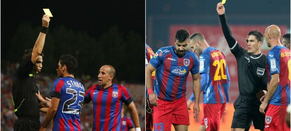 Cod galben de suspendare | Steaua si ASA pot ramane fara cei mai importanti titulari la meciul direct, 13 jucatori sunt la limita