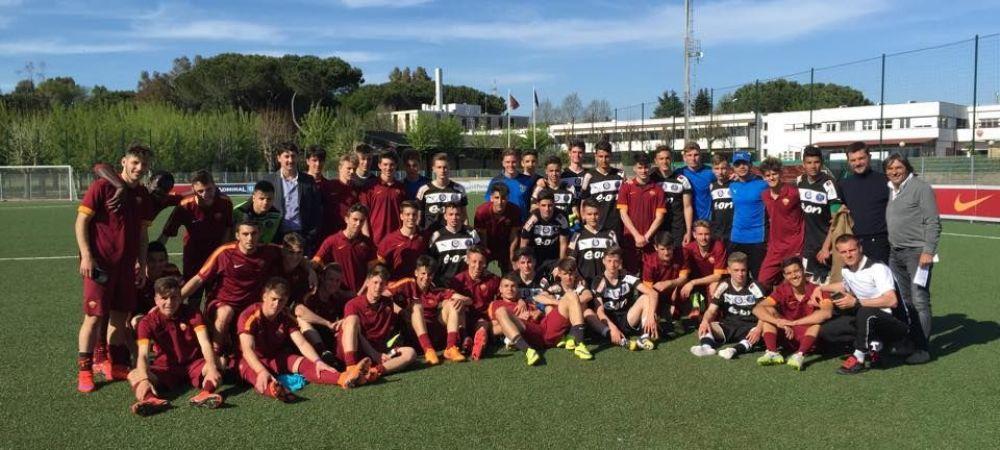 Victorie fantastica a pustilor lui Hagi cu AS Roma, la U17: 5-2! Florinel Coman a reusit un hattrick genial