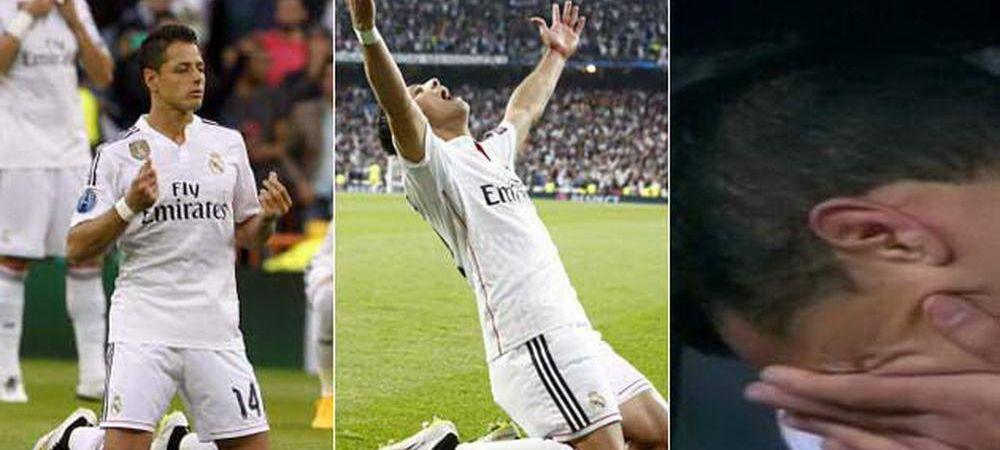 A intrat, a marcat, a PLANS. Scene EMOTIONANTE pentru Chicharito dupa golul cu Atletico! A plans ca un copil pe banca