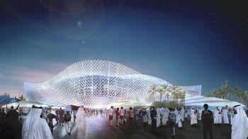 FOTO Asa arata al cincilea stadion pregatit de Qatar pentru CM 2022. Are instalatii GIGANT de aer conditionat si e in forma de DUNE de nisip