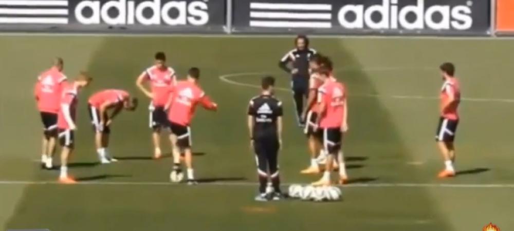 """Bine ai venit"" Cristiano Ronaldo s-a distrat cu Odegaard la antrenamentul lui Real! VIDEO"