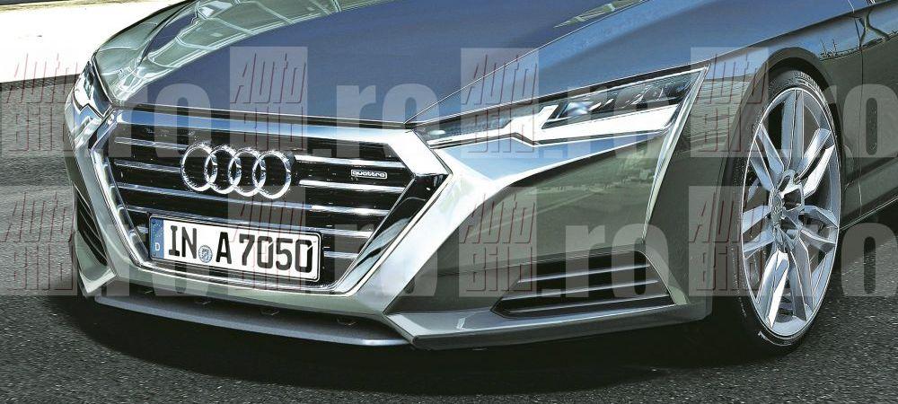 FASCINANT! Audi se pregateste sa lanseze un nou coupe cu patru portiere. IMAGINI IN EXCLSUVITATE