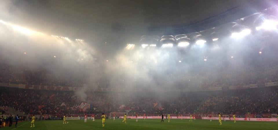 """IRONIA dura a fanilor de la Dinamo! """"Cainii"""" raman cu un titlu: campioni la ironii! :) Ce au scris ultrasii pe un banner! FOTO"""