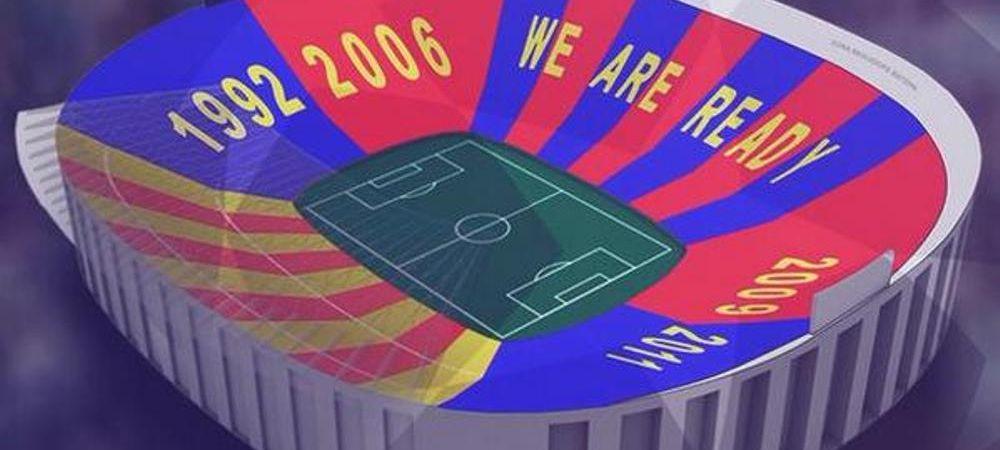 Camp Nou se transforma pentru meciul cu Bayern din semifinalele Ligii. Ce coregrafie pregateste clubul