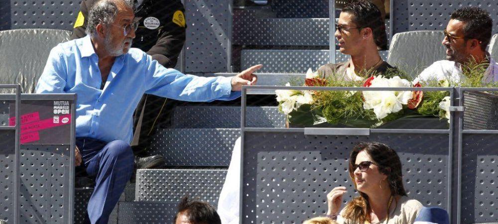 Imaginile zilei la Madrid. Tiriac a urmarit meciul lui Nadal impreuna cu Cristiano Ronaldo si alti jucatori de la Real