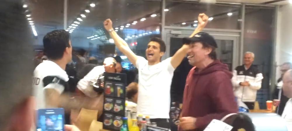 SHOW total marca Rapid! Jucatorii au oprit la benzinarie azi-noapte si au cantat cu suporterii! Cum arata imaginile! VIDEO
