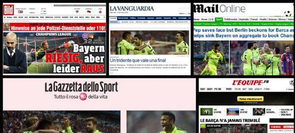 """""""Pep a scapat de RUSINE!"""" si """"Cu totii la Berlin!"""" - titlurile zilei din presa internationala! Cum a 'uitat' AS de catalani:"""