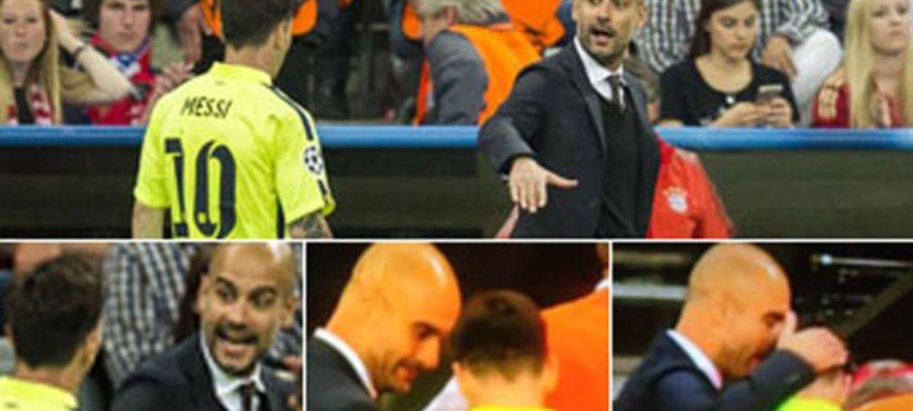 """""""Leo, hai gata!"""" Dialog senzational intre Guardiola si Messi la pauza meciului de pe Allianz Arena. Reactia starului Barcei"""