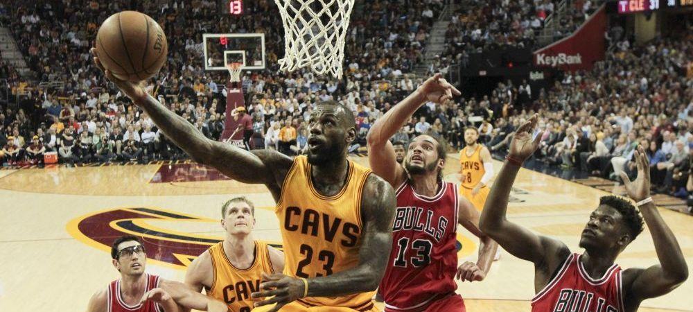 Moment istoric in NBA. LeBron James l-a egalat pe Michael Jordan intr-un meci cu Chicago Bulls. Performanta fantastica reusita