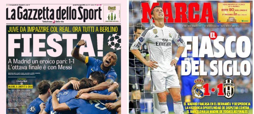 SHOW total dupa ce Juve a ajuns in finala Ligii! Ce scrie presa si ce s-a intamplat pe strazile din Torino!