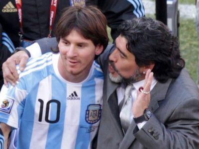 """Maradona il face praf pe Messi la CNN: """"Nu are un stil propriu!"""""""