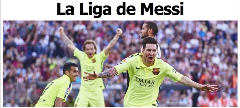 """""""LIGA LUI MESSI!"""" Primele reactii din Spania dupa ce Barcelona a cucerit titlul 23 din istorie in fata lui Real Madrid"""