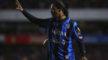 A dat gol de la 40 de metri si s-a bucurat ca un NEBUN! Ronaldinho continua sa faca senzatie in Mexic: VIDEO