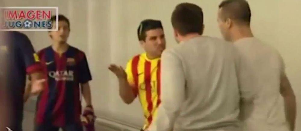 BATAIE in aeroportul din Madrid! Ce s-a intamplat cand fanii lui Real s-au intalnit cu cei ai Barcei! VIDEO