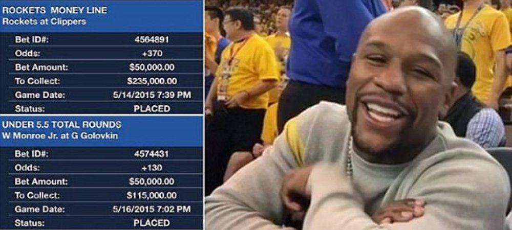 Pariul de un milion de dolari al lui Mayweather. Super lovitura starului din box. Cum au sarit din nou in aer conturile sale