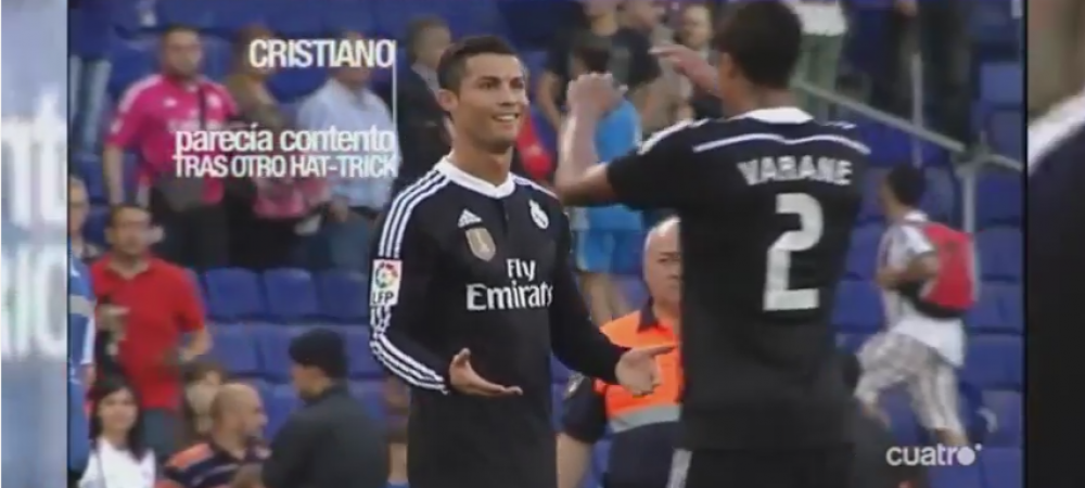 Pepe a innebunit cand a vazut ca Ronaldo se bucura ca a dat 3 goluri, desi echipa pierduse titlul! Ce s-a intamplat apoi intre cei doi - VIDEO