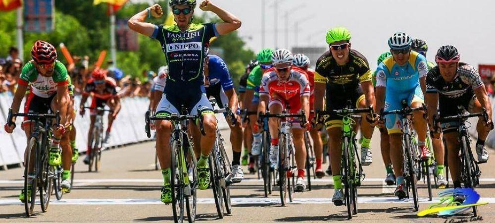 Performanta unica in istoria ciclismului romanesc! Edi Grosu, locul 5 in etapa a 13-a din Giro! Aru, in roz, dupa ce Contador a cazut