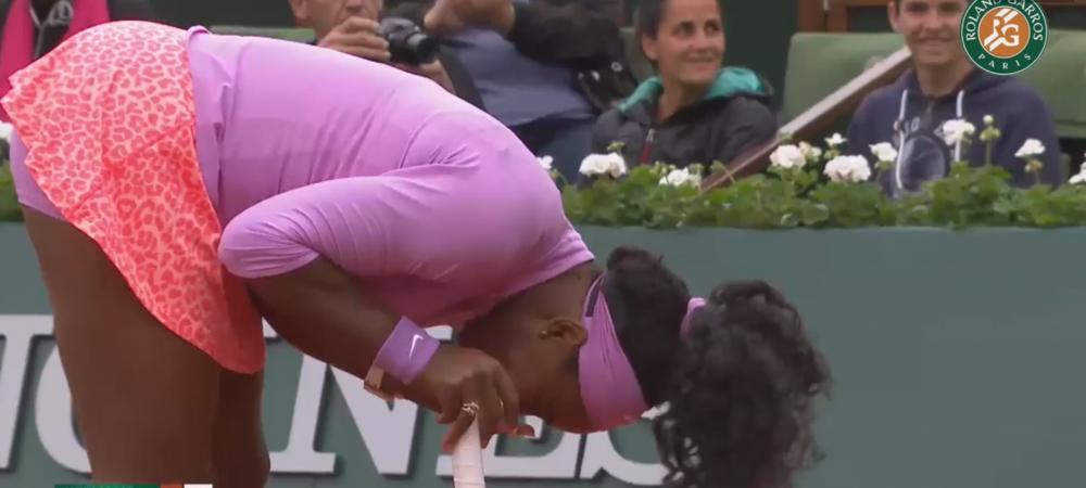Faza Zilei la Roland Garros! Serena nu s-a putut abtine din ras! Ce a patit in timpul meciului de debut