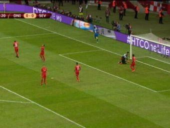 Golul absolut senzational cu care Dnipro a deschis scorul in finala EL! Apararea Sevilliei, invinsa din 3 pase: VIDEO