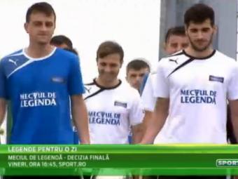 Legende pentru o zi! Suporterii se pregatesc pentru duelul de pe National Arena cu Dan Petrescu, Belodedici si Balaci: VIDEO