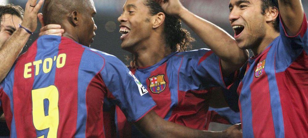 Oamenii care i-au adus o Liga Barcei, din nou impreuna! Transferuri FABULOASE reusite de o echipa anonima. Unde vor juca Eto'o si Ronaldinho