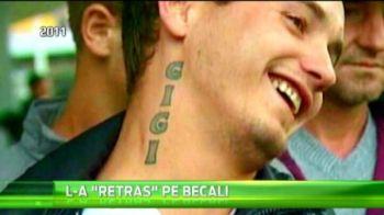 Acum 4 ani isi facea tatuaj pe gat cu Becali, apoi s-a SUPARAT si a incercat sa-l stearga! Cum arata acum acest suporter al Stelei! VIDEO