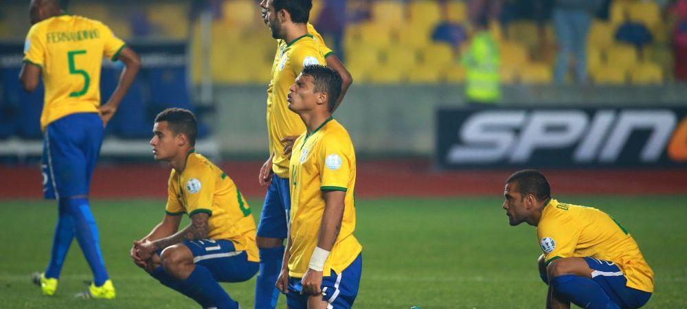 Dezastru pentru Brazilia! A fost eliminata de la Copa America de Paraguay, la penaltyuri, dupa ce a condus pana aproape de final
