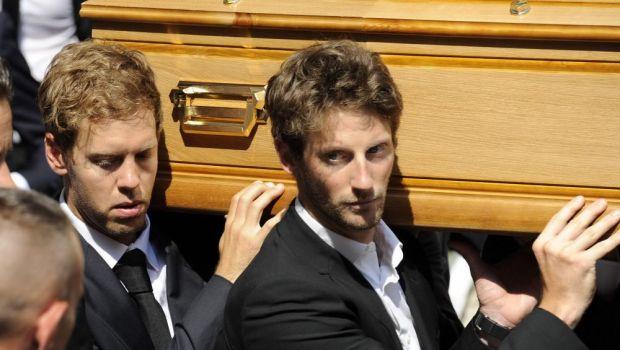 Imagini DUREROASE! Formula 1 si-a luat adio de la Jules Bianchi, pilotul care a murit dupa 9 luni de coma. FOTO