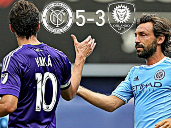 "Debut FABULOS pentru ""Profesorul"" Pirlo in MLS! New York City FC, cu Pirlo si David Villa, a invins echipa lui Kaka dupa un meci cu 8 goluri"