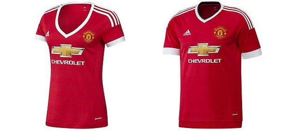 """""""Asa ceva e o rusine!"""" Protest incredibil al femeilor dupa ce Man. United a lansat noul tricou! Detaliul de pe tricoul pentru fete"""