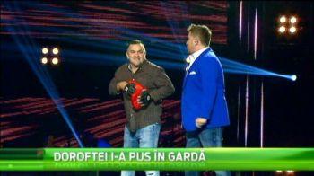 SUPERVIDEO | Juratii de la Vocea Romaniei au avut parte de cea mai tare vizita: Doroftei si-a luat manusile si a intrat in ringul emisiunii :)