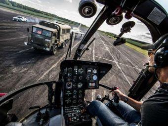 Austriacul Felix REVINE! Omul care a sarit din stratosfera face DRIFTURI cu elicopterul! VIDEO