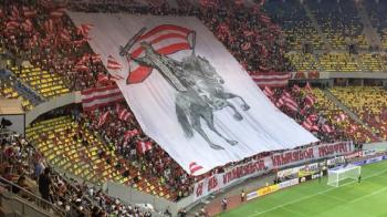 """""""Dinamo nu e al nostru, nici al vostru, ci al urmasilor urmasilor nostri!"""" Coregrafia dinamovistilor la derby FOTO"""