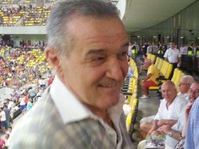 Aparitie surpriza in loja Stelei! Cu cine a urmarit Gigi Becali derby-ul cu Dinamo FOTO