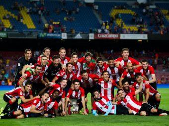 FOTO   Jucatorii lui Bilbao, primiti intr-o MARE de oameni dupa ce au umilit Barcelona in Supercupa Spaniei. Orasul, blocat de suporteri