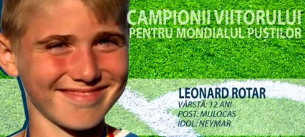 Constelatia celor 12 | E specialist la lovituri libere si le ascunde mingea adversarilor. Leonard, pustiul care vrea sa dea goluri la Cupa Natiunilor Danone