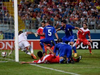 VIDEO   Cum a ajuns Italia sa se chinuie cu Malta: disperati ca nu marcheaza, italienii s-au pus pe simulat. Pelle i-a salvat in minutul 70