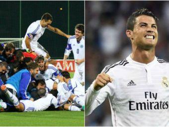 GENIAL   Cum rad internautii de Cristiano Ronaldo, dupa ce San Marino a dat primul gol in deplasare in 14 ani de zile :)