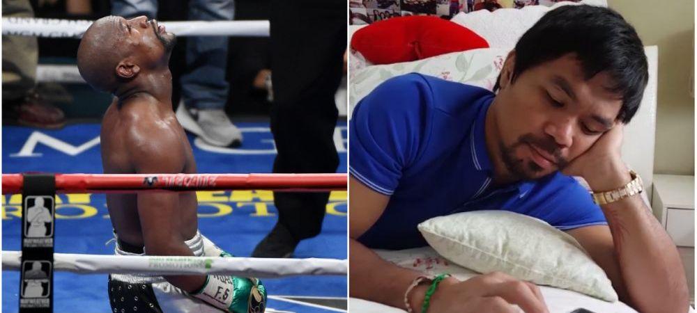 VIDEO   Ultima aroganta a lui Pacquiao la adresa lui Mayweather! Ce facea filipinezul in timp ce rivalul sau lupta pentru ultima oara in ringul de box