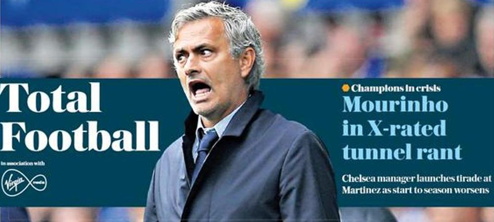 Scene SOCANTE cu Jose Mourinho pe TUNEL dupa ultima bataie luata de Chelsea! Portughezul si-a pierdut controlul