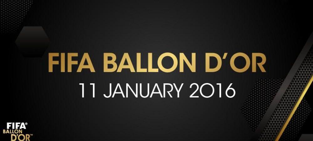 """Tineti minte ziua asta!"" FIFA a anuntat cand va acorda Balonul de Aur 2015"