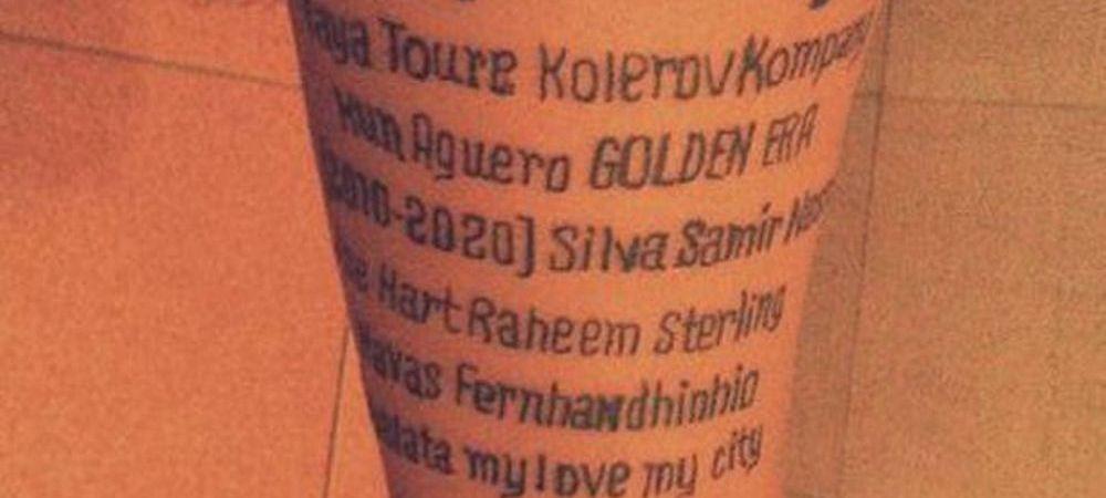 Si-a tatuat jucatorii preferati de la Manchester City pe mana, apoi a vazut GAFA URIASA! Ce cosmar traieste acest suporter. FOTO