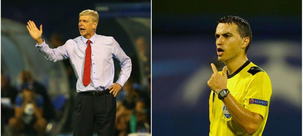 Tunarii tintesc spre Hategan dupa infrangerea din Liga. Wenger il critica pe arbitrul roman, dupa ce l-a eliminat pe Giroud