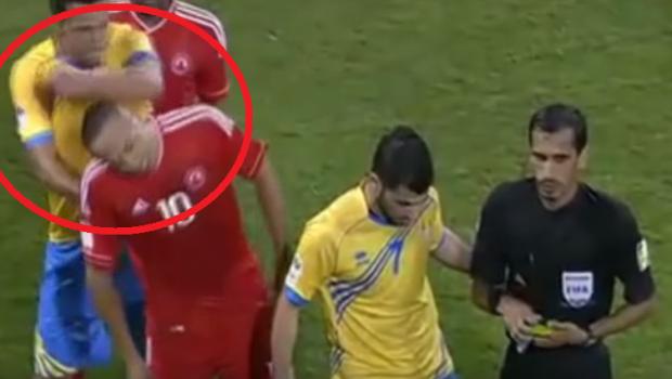 VIDEO   Episod incredibil cu noul jucator al Stelei. Houssine Kharja a fost dat afara de la Al Arabi dupa un meci de K1 cu Nene