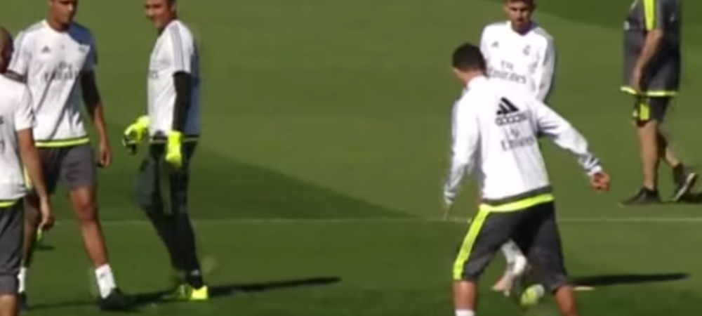 SHOW total la antrenamentul Realului! Cristiano Ronaldo a LOVIT cu un moment de MAGIE! Jese si-a umilit un coleg. VIDEO