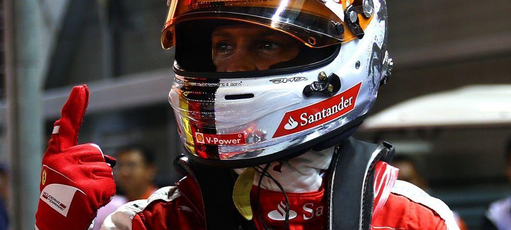 Sebastian Vettel pleaca primul in MP din Singapore! Pole position pentru Ferrari dupa mai bine de trei ani! Grila de start