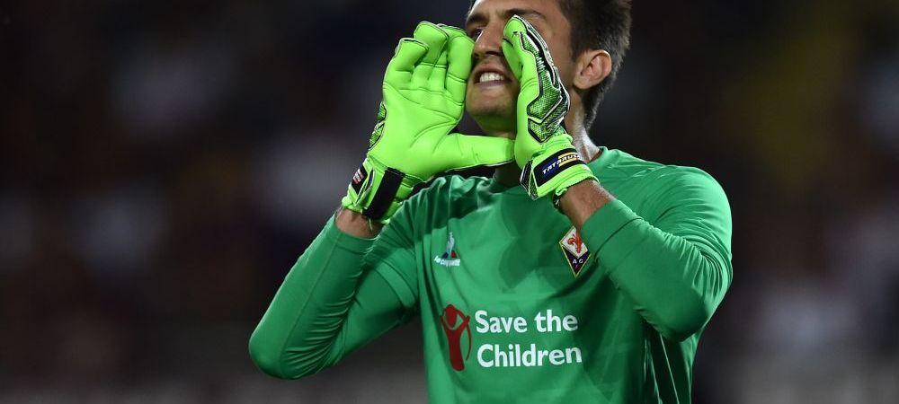 Tatarusanu duce Fiorentina pe locul 3 in Serie A. Portarul nationalei, interventii de 3 puncte in ultimul meci: VIDEO