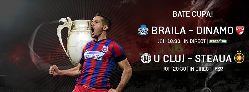 U Cluj - Steaua, joi, ora 20:30, in direct la ProTV! Bucurati-va de fotbal!